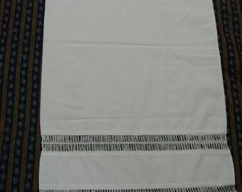 """Vintage Pillowcase, Unique and Wonderful, Handmade Lace Trim, 21 x 38"""""""