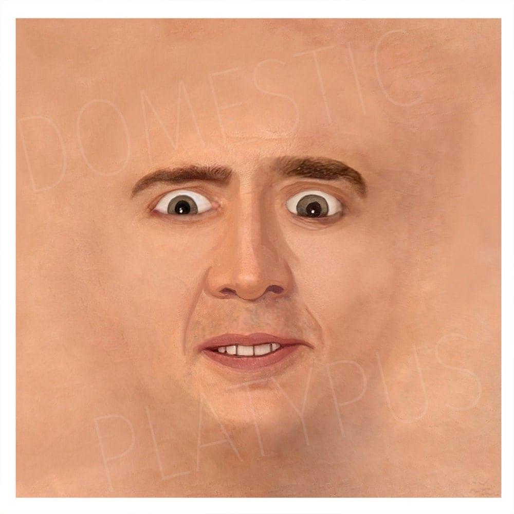 Cage Face Floor Mat Doormat Nicolas Cage Parody Meme