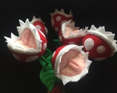 RESERVED for William - bouquet of 6 long-stem Piranha Plants