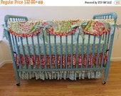 SALE--VALENTINES SALE---- Bumperless Crib Bedding- Baby Bedding- Made to Order