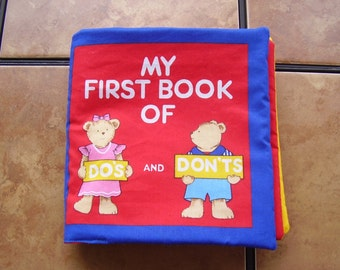My First Book of Do's and Don'ts Quiet Soft Fabric Baby Toddler Story Book Handmade Ready to Read
