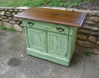 Painted Furniture Buffet Server Cupboard Side Table Dresser Vintage Cottage Chic
