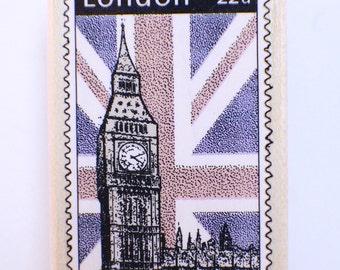 Hero Arts London Big Ben Postage c2433 Wooden Rubber Stamp