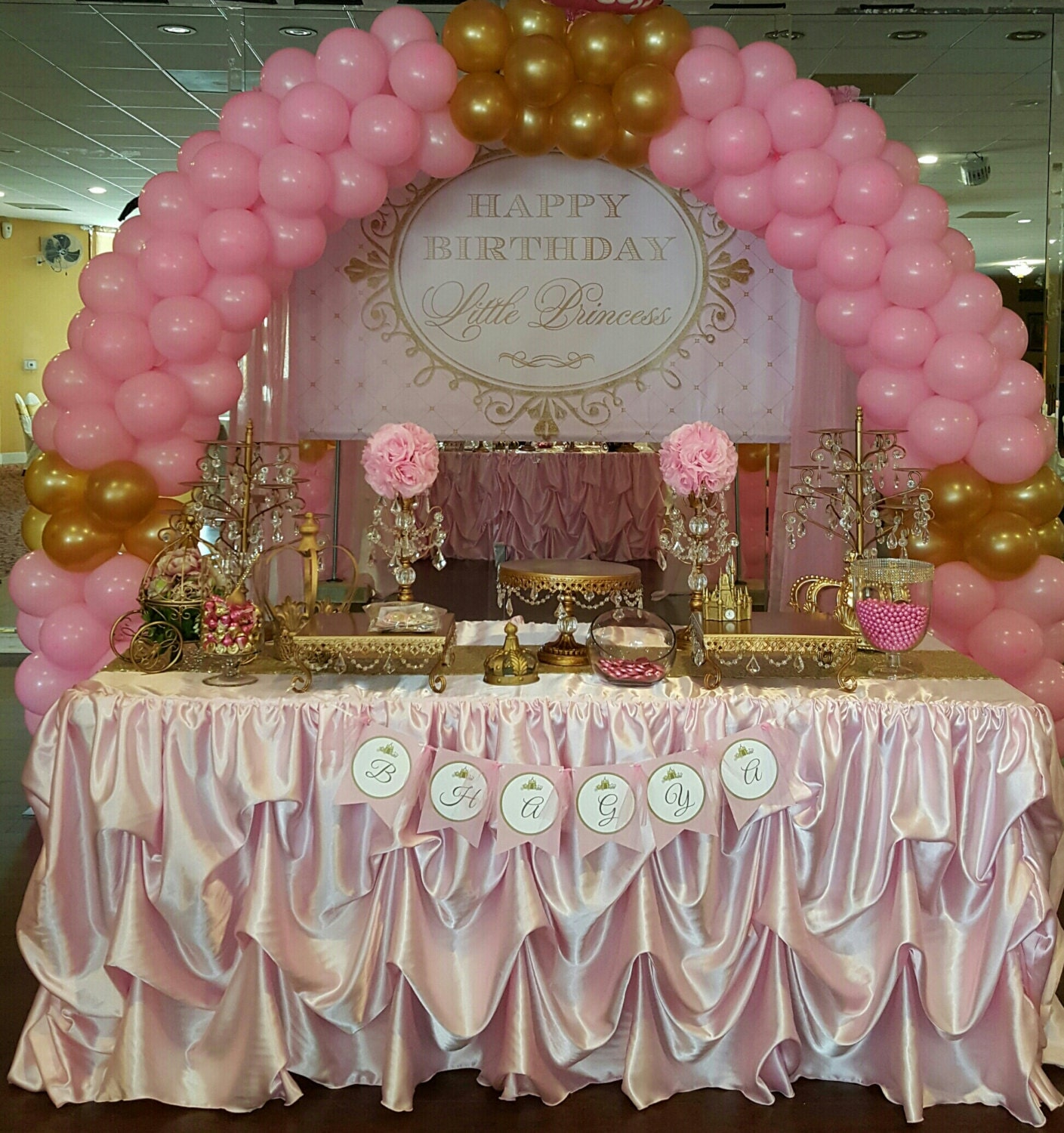 Birthday Cake Table Decoration Ideas : Custom Made Wedding Cake Table Head Table Tablecloth Pink