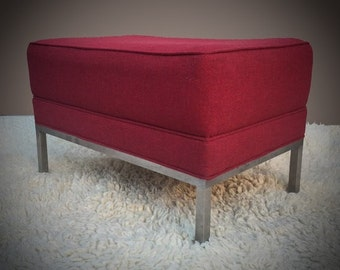 Vintage Knoll Style Ottoman Footstool Bench