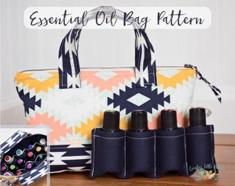 Essential Oil Bag Pattern, Essential Oil Case Pattern, Essential Oil Tote, Storage for up to 14 bottles, PDF Pattern, *Permission to Sell*