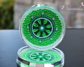 Paper Quilling Coasters in shades of green, Set of two Coasters, Paper Anniversary, Indian Wedding, Housewarming,Quilled Mandala