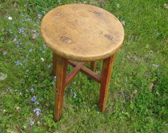 handmade maine stool, mortise and tenon , gorgeous vintage stool