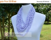 ON SALE Infinity Scarf {hand crocheted} Grape Stripes