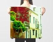 """Fall photography, Italy art print, Venice Italy - """"November Red"""""""