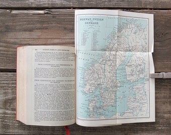 Vintage 1927 Satchel Guide to Europe / Vintage Travel Guide Book / Europe Travel Guide