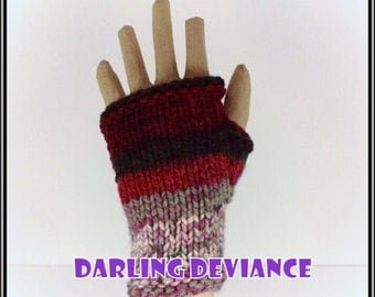 Fingerless Gloves - Holiday