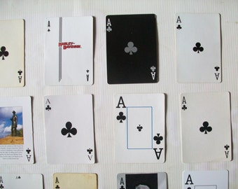 21 vintage Ace playing cards | ace of clubs | instant collection of aces | supplies | collage supplies | ATC supplies | DIY business cards