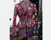 black and paisley jacket with black satin lining for liz639 1st installment