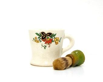 1930s Shaving Mug Vintage Ever Ready 200BH Shaving Brush Lather Cup Set Green Bakelite Boars Hair Bristles Vintage Shaving Gifts Old School