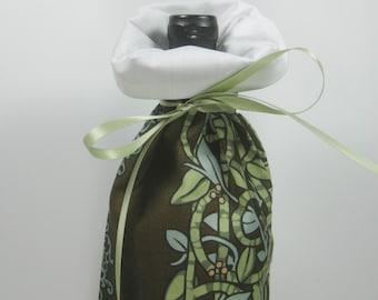 Art Noveau Design, Class Wrap Wine Gift Bag