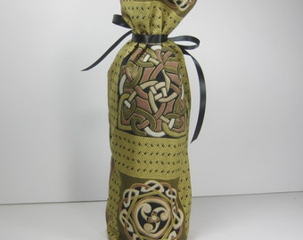 Celtic Cross and Designs Class Wrap Wine Gift Bag