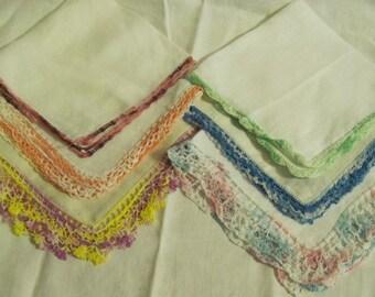 Vintage Crochet Edge Hankies