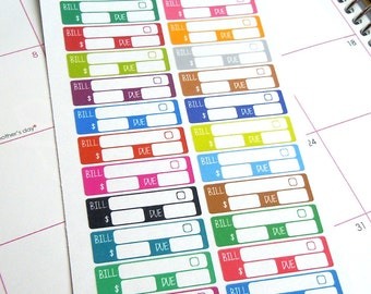Bill Due Planner Stickers-Set of 30