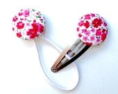 Hair Clip and Tie Set - Liberty of London - Delicate Pink and White Floral SPECIAL PRICE
