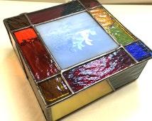 Stained Glass Jewelry Box - Keepsake Box - Trinket Box - Butterfly Box (PLG009)