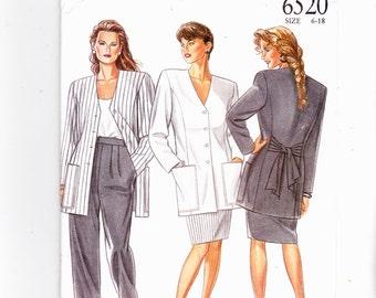 New Look 6520 Misses Uncut Pattern Jacket, Skirt, Trousers Sizes 6-18 Uncut Pattern FF