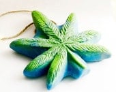 Dope on a Rope Soap - Hemp Soap on a Rope - Blue Dream - Basil Peppermint - Hippy Retro Bohemian Boho Gifts 420