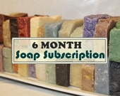 6-Month Soap Subscription - Receive TWO or THREE SOAPS Monthly For 6 Months - Send as Gift - Stocking Stuffers - Handmade Soap - Valentines