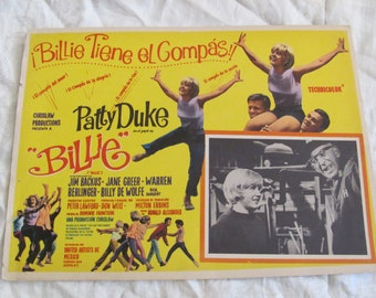 Vintage Spanish Mexican Movie Lobby Card Poster - Billie Tiene el Compas - Billie Has the Compas