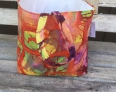 The Carbage can: car garbage can ready to ship- Batik