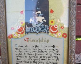 Vintage Framed Friendship Verse