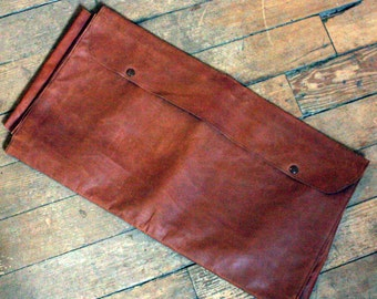 Very Unique and Unusual Salesman's Sample Kid Leather Satchel