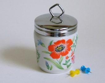 Egg Coddler, Taste Setter Primavera, Flowered Egg Coddler, Made in Japan