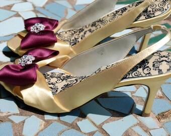 Wedding shoe -- Yellow shoe SALE -- Size 9