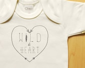 Wild at Heart arrows onesie, organic baby clothes