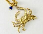 Golden Crab Necklace