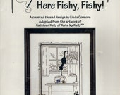 Calico Crossroads: Here Fishy, Fishy! (OOP) - a Kats by Kelly Cross Stitch Kit