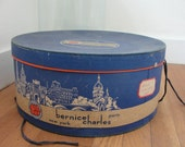 Vintage Hat Box Bernicle Charles 5th Ave. New York 1960s