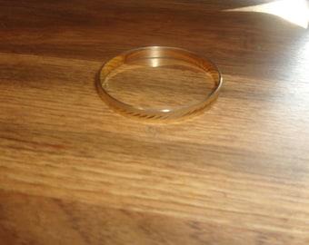 vintage bracelet bangle goldtone etched monet