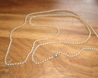 vintage necklace long faux pearls