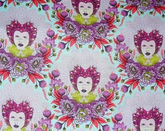 Tula Pink Fabric,  Elizabeth Tart, Free Spirit, 16th Century Selfie, Selfie Plum, By the Yard