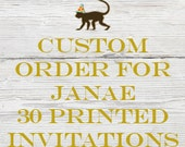 Reserved listing for Janae for 30 Printed Mermaid Birthday Invitations with White Envelopes