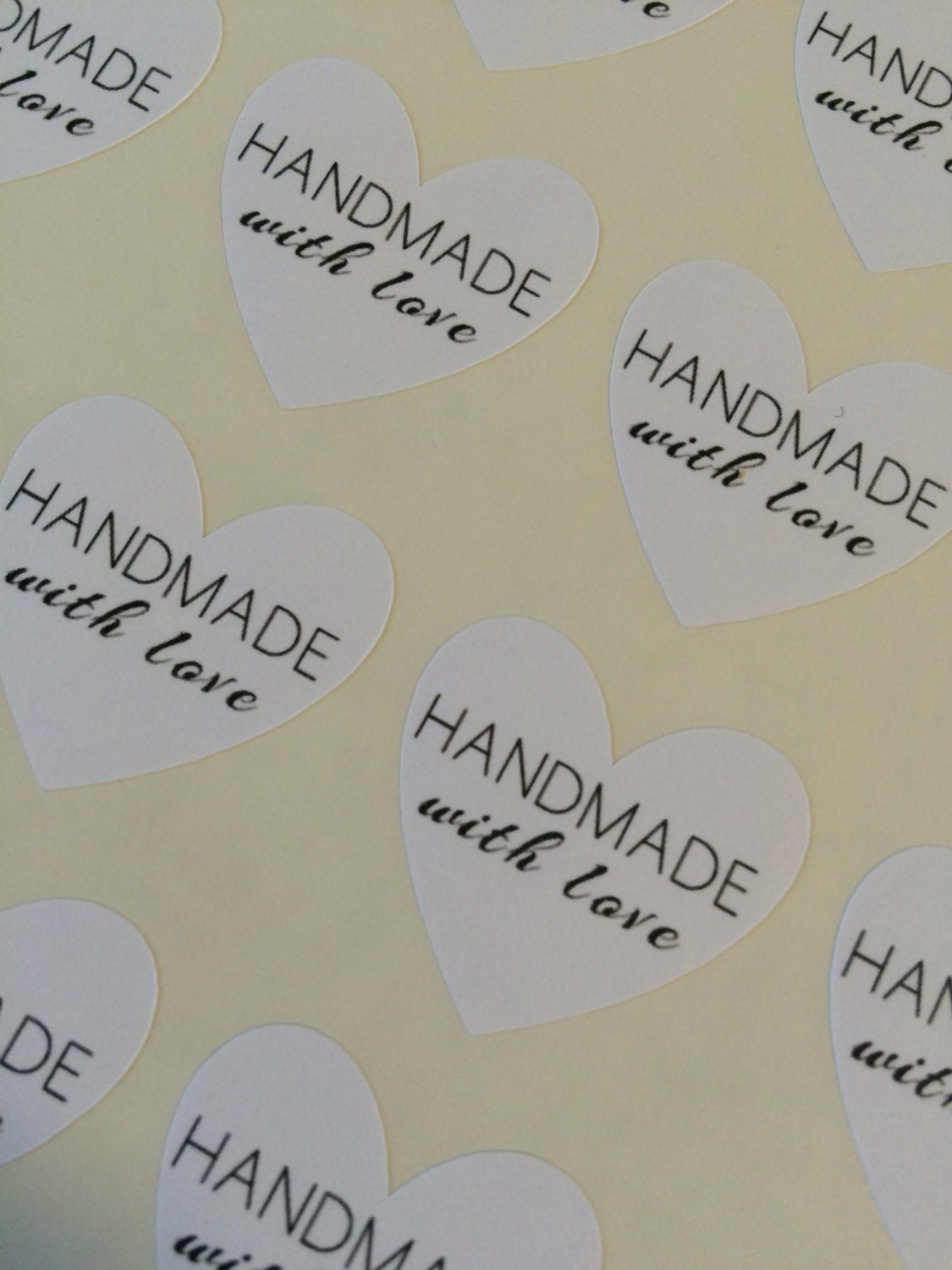 Handmade With Love Heart Stickers Set of 35 from ...