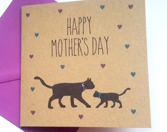 Black Cat Mother's Day Card
