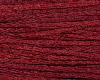 MERLOT 1334  : Weeks Dye Works WDW hand-dyed embroidery floss cross stitch thread at thecottageneedle.com