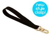 Wrist Strap - Black Wristlet Strap - Handmade Key Chain - Wallet Strap - Wrist Lanyard - Unisex Wrist Strap - Ready to Ship
