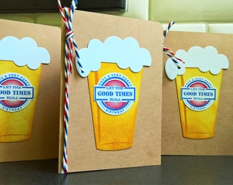 Beer Birthday Card, Microbrew Greeting Card, Card for Beer Lover