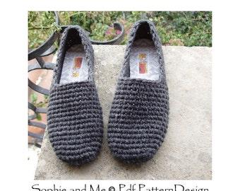 Plain Basic SC-Slippers Crochet Pattern - Instant Download
