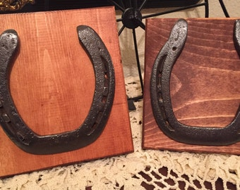 upcycled horseshoe frames