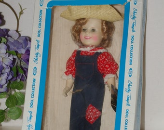 "1982 SHIRLEY TEMPLE DOLL Ideal 12"" Rebecca Sunnybrook Farm Mint with Tags in Box--Free Shipping"